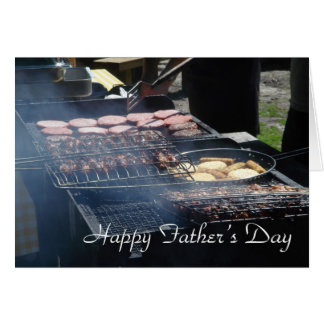 Tarjeta del día de padre de la barbacoa