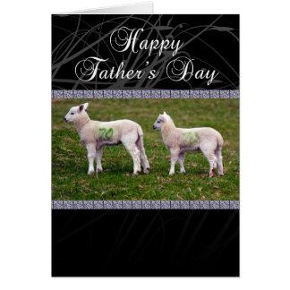 Tarjeta del día de padre del abuelo - corderos