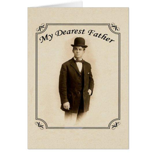 Tarjeta del día de padre del caballero del vintage