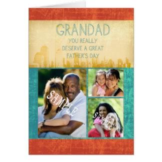 Tarjeta del día de padre del Grandad su fotografía