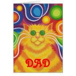 """tarjeta del día de padre del """"papá"""" del Psy-gato-d"""