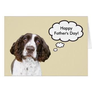 Tarjeta del día de padre del perro de aguas de