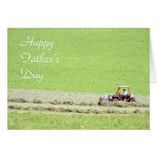 Tarjeta del día de padre del tractor