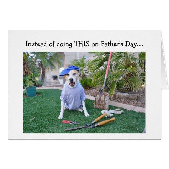 """Tarjeta del día de padre, """"papá de trabajo duro. """""""