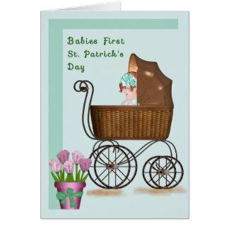 Tarjeta del día de primer St Patrick de los bebés