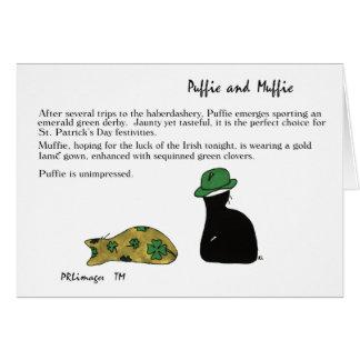 Tarjeta del día de Puffie y de Muffie St Patrick