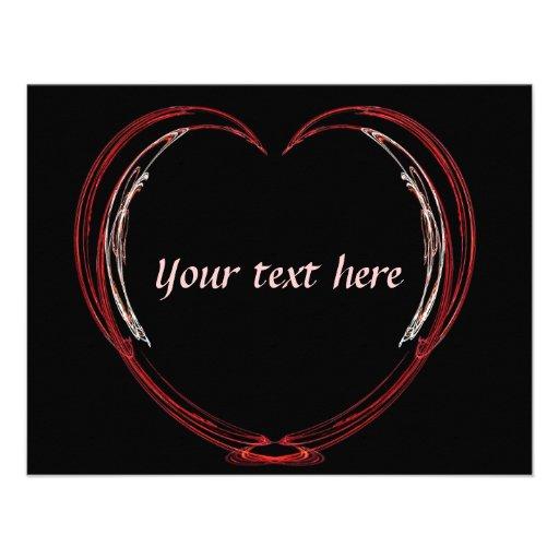 Tarjeta del día de San Valentín abierta del corazó Comunicado Personalizado