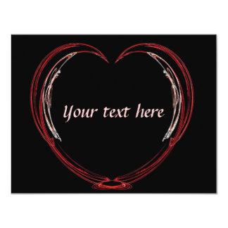 Tarjeta del día de San Valentín abierta del Invitación 10,8 X 13,9 Cm