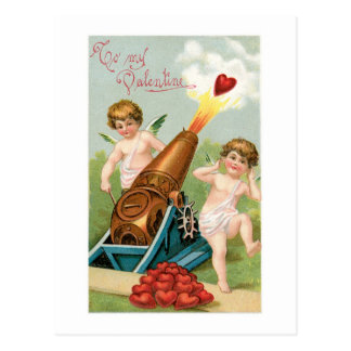 Tarjeta del día de San Valentín antigua Postal