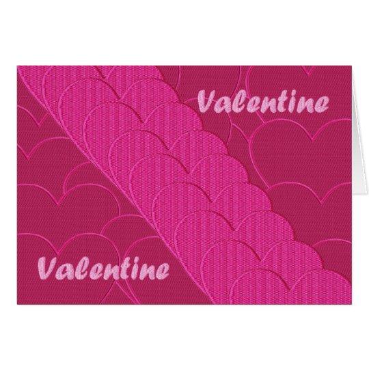 Tarjeta del día de San Valentín bordada
