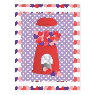 Tarjeta del día de San Valentín Bubblegum
