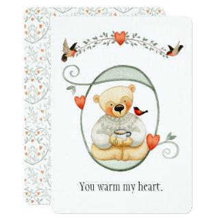 Tarjeta del día de San Valentín caliente linda del Invitación 12,7 X 17,8 Cm
