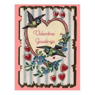 Tarjeta del día de San Valentín con la postal de