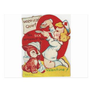 Tarjeta del día de San Valentín de la enfermera