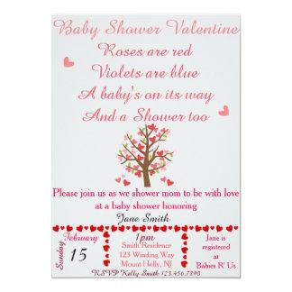 Tarjeta del día de San Valentín de la fiesta de Invitación 12,7 X 17,8 Cm