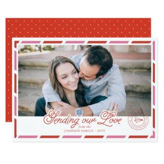 Tarjeta del día de San Valentín de la foto del Invitación 12,7 X 17,8 Cm
