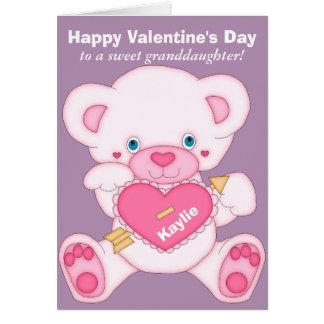 Tarjeta del día de San Valentín de la nieta del