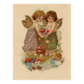 tarjeta del día de San Valentín de la querube del