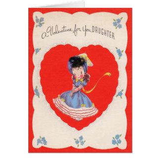Tarjeta del día de San Valentín de las hijas