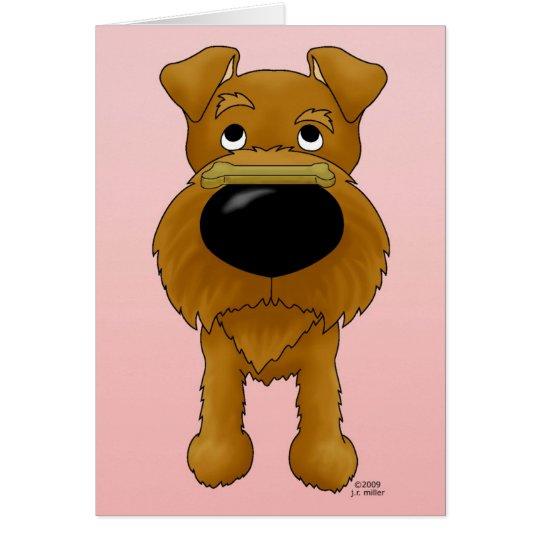 Tarjeta del día de San Valentín de Terrier