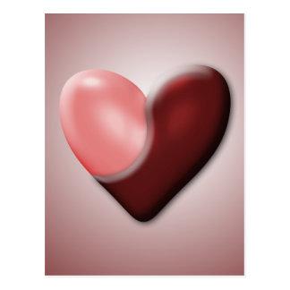 Tarjeta del día de San Valentín de Yin y de Yang Postal