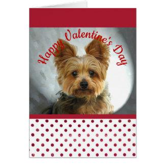 Tarjeta del día de San Valentín de Yorkie