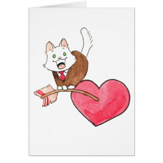 Tarjeta del día de San Valentín del altramuz