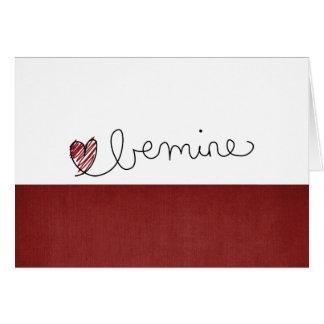 tarjeta del día de San Valentín del amor