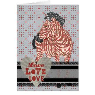 Tarjeta del día de San Valentín del amor del amor