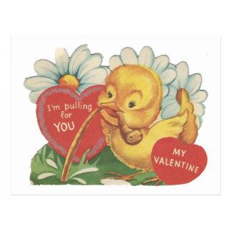 Tarjeta del día de San Valentín del anadón del