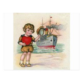 Tarjeta del día de San Valentín del barco de