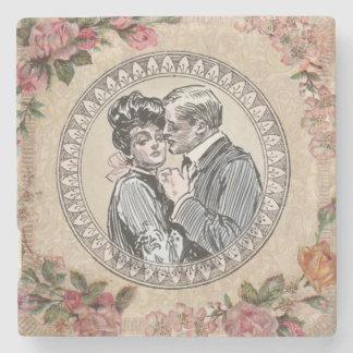 Tarjeta del día de San Valentín del boda del amor Posavasos De Piedra