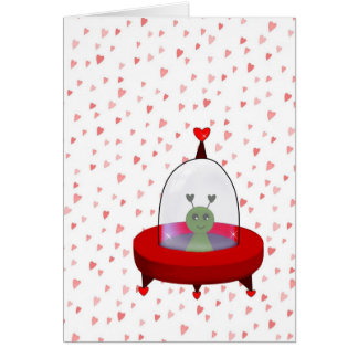 Tarjeta del día de San Valentín del extranjero de