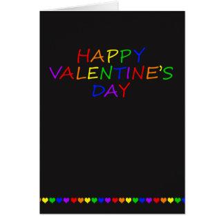 Tarjeta del día de San Valentín del gay de la