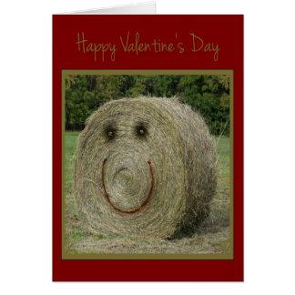 Tarjeta del día de San Valentín del heno