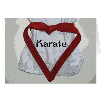 Tarjeta del día de San Valentín del karate de los