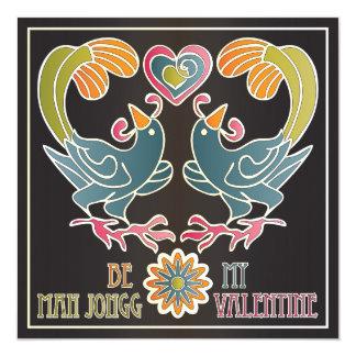 Tarjeta del día de San Valentín del Mah Jongg Invitación 13,3 Cm X 13,3cm