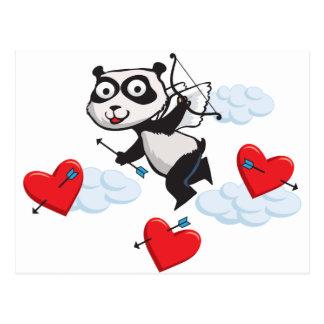 Tarjeta del día de San Valentín del oso de panda
