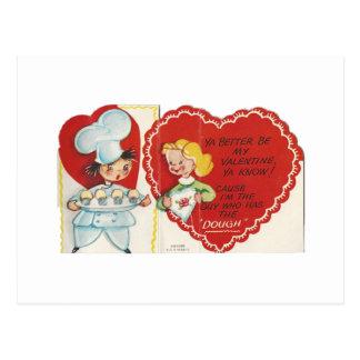 Tarjeta del día de San Valentín del panadero del
