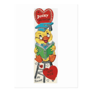 Tarjeta del día de San Valentín del pato del Postal