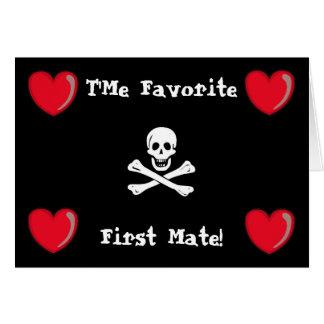 Tarjeta del día de San Valentín del pirata