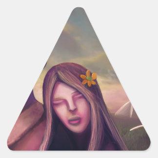 Tarjeta del día de San Valentín del planeta Pegatina Triangular