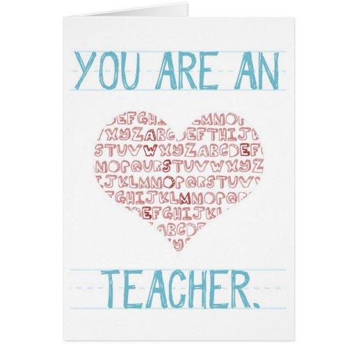Tarjeta del día de San Valentín del profesor