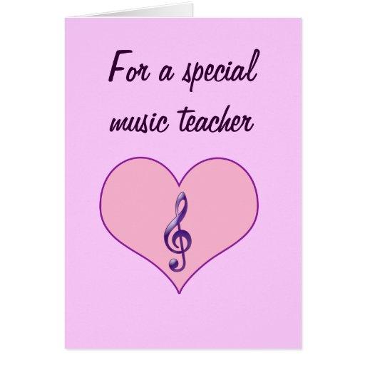 Tarjeta del día de San Valentín del profesor de mú