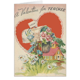 Tarjeta del día de San Valentín del profesor del