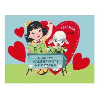 Tarjeta del día de San Valentín del profesor del Postal