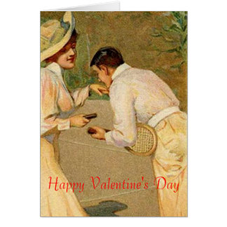 tarjeta del día de San Valentín del tenis
