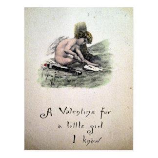 Tarjeta del día de San Valentín del Victorian del Postal