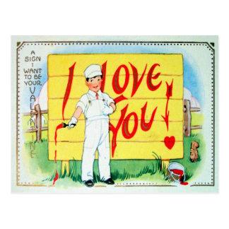 Tarjeta del día de San Valentín del Victorian Postal