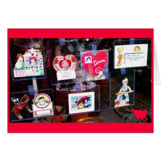 Tarjeta del día de San Valentín del vintage en una